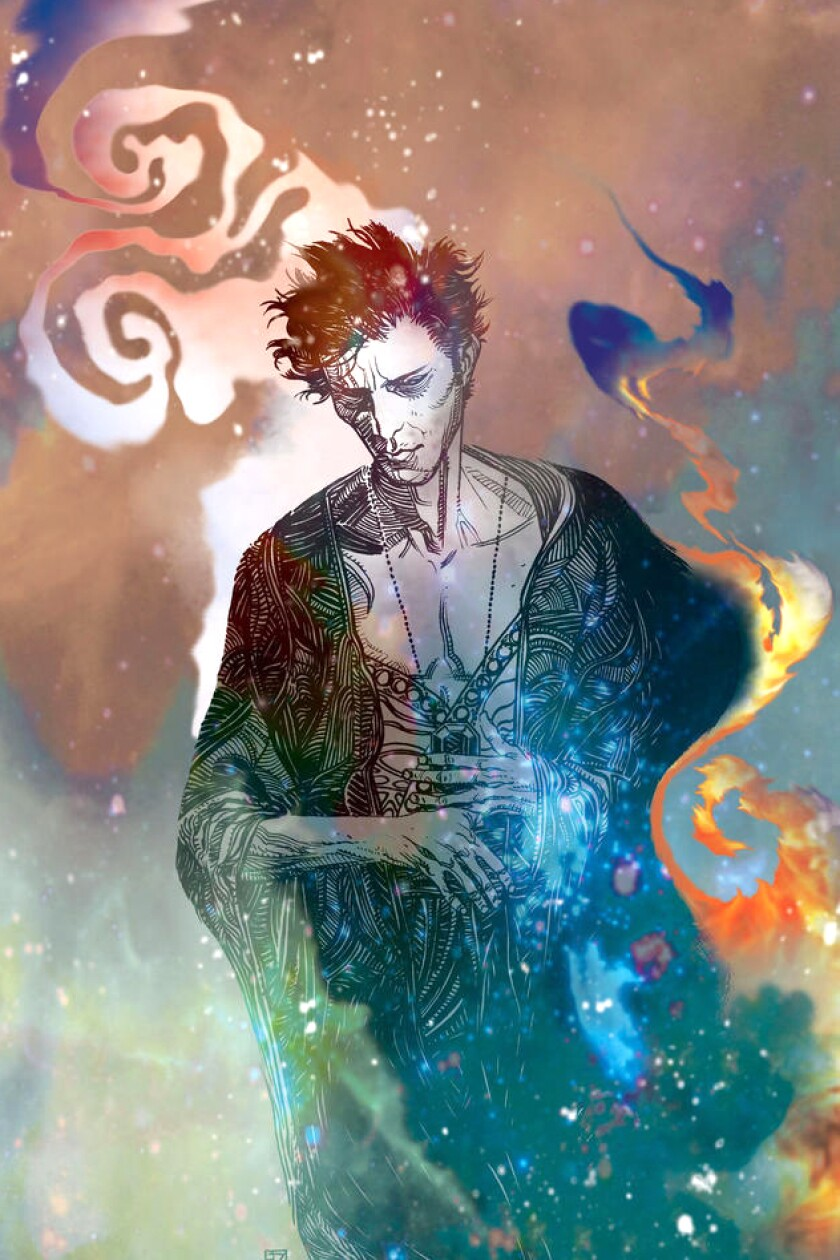 """A drawing of the protagonist of """"The Sandman"""""""