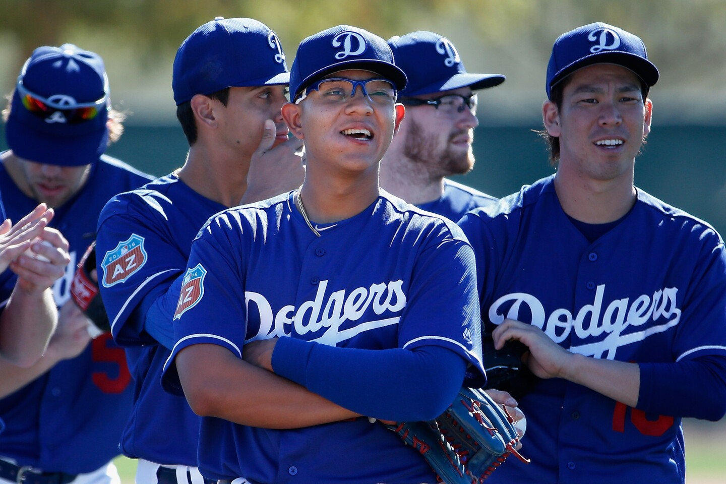 GLENDALE, AZ - FEBRUARY 20: Starting pitcher Julio Urias #78 of the Los Angeles Dodgers participates in a spring training workout at Camelback Ranch on February 20, 2016 in Glendale, Arizona. (Photo by Christian Petersen/Getty Images) ** OUTS - ELSENT, FPG, CM - OUTS * NM, PH, VA if sourced by CT, LA or MoD **