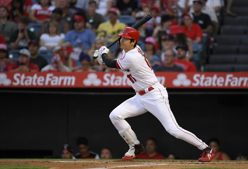 Shohei Ohtani is back in the lineup after working with manager Joe Maddon on his swing.