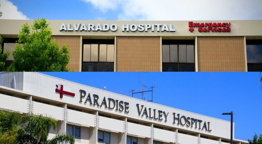 Alvarado Hospital and Paradise Valley Hospitals are among 14 Prime Healthcare facilities in California named in a federal whistleblower lawsuit which resulted in a $65 million settlement Friday.