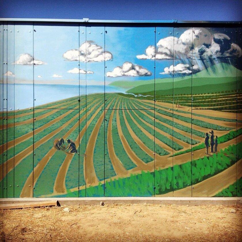 The finished EUSD Farm Lab mural.