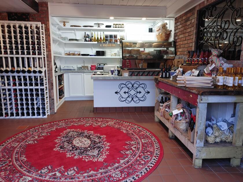 Inside the new Cork & Knife in Rancho Santa Fe.