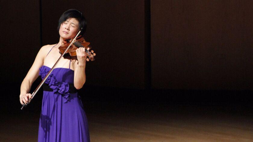 Violinist Jennifer Kohn, Pick-Staiger Concert Hall. Christina Walker photo