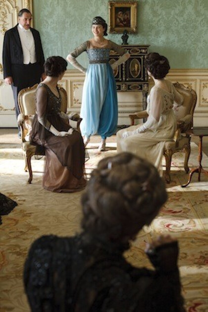 The harem pants worn by Lady Sybil Crawley (a.k.a. Jessica Brown Findlay) will be part of the display at Winterthur in spring.