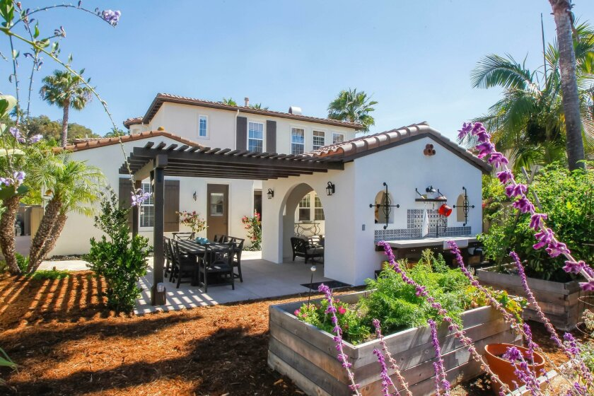 The San Diego County median home price was $495,000 in June, CoreLogic said. Pictured: A home in Carlsbad.