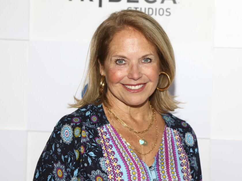 """FILE - In this Friday, June 18, 2021, file photo, journalist Katie Couric attends a screening during the 20th Tribeca Festival at The Waterfront Plaza at Brookfield Place, in New York. Little, Brown and Company and Live Nation announced Monday, June 21, 2021, that Couric will embark on an 11-city in-person promotional tour for her book """"Going There,"""" beginning with an appearance at Boston's Orpheum Theatre on Oct. 28.(Photo by Andy Kropa/Invision/AP, File)"""