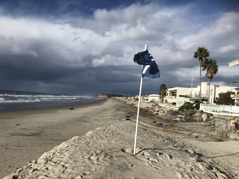 Light and sporadic rain is expected in greater San Diego through Monday