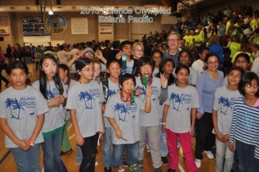 Solana Pacific Science Olympiad team members.