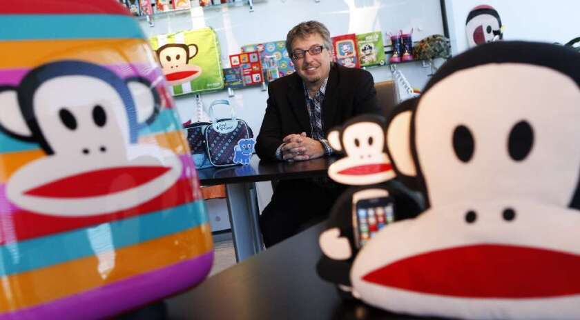 Paul Frank parent company Saban Brands President Elie Dekel, surrounded by products featuring Julius the Monkey at the company's office in Century City on June 7, 2011.