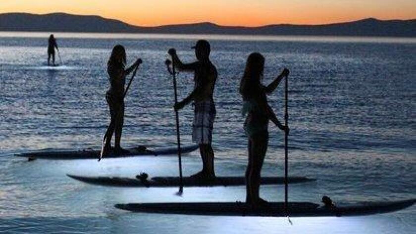 San Diego Paddle Yoga: Night Glow SUP. (/ Courtesy photo)