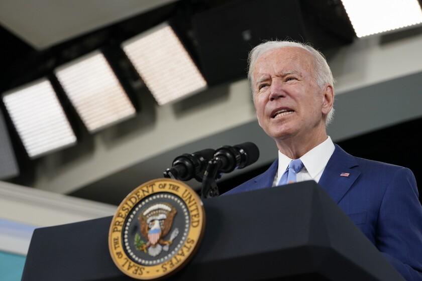 President Biden at a lectern