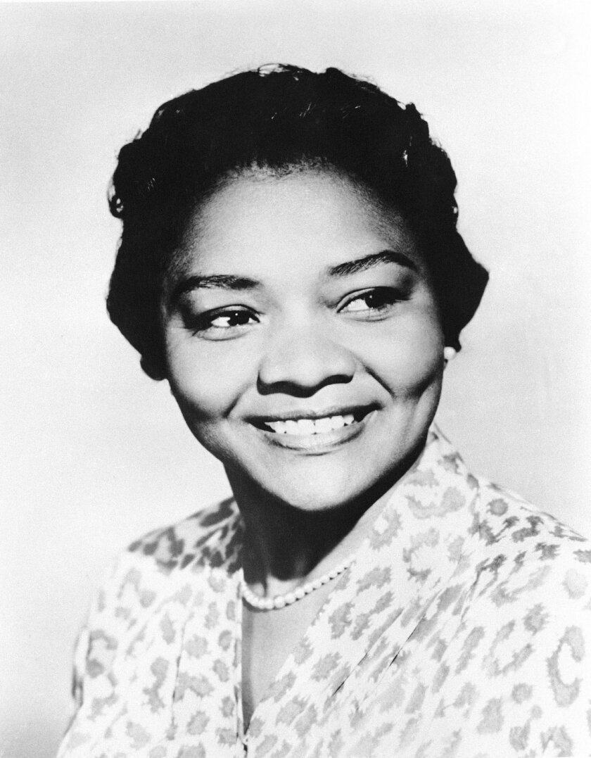 """FILE - This March 31, 1960 file photo shows Juanita Moore, a groundbreaking actress and an Academy Award nominee for her role as Lana Turner's black friend in the classic weeper """"Imitation of Life."""" Actor Kirk Kelleykahn, her grandson, said that Moore collapsed and died Wednesday, Jan. 1, 2014, at"""
