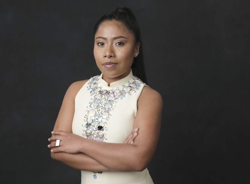 """FILE - In this Feb. 4, 2019 file photo, Yalitza Aparicio, nominated for an Oscar for best actress for her role in """"Roma,"""" poses for a portrait at the 91st Academy Awards Nominees Luncheon in Beverly Hills, Calif. The United Nations' cultural agency UNESCO is appointing Friday Oct. 4, 2019 Mexican actress Yalitza Aparicio as its Goodwill ambassador for the indigenous peoples.(Photo by Chris Pizzello/Invision/AP, File)"""