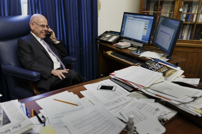 Rep. Henry Waxman, (D-Beverly Hills), shown here in his Washington office, set off a scramble to succeed him when he announced he will retire this year.