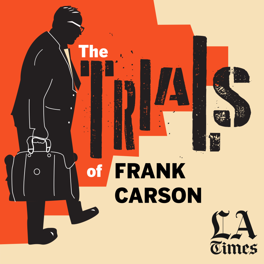 An illustration of Frank Carson walking and carrying a briefcase.