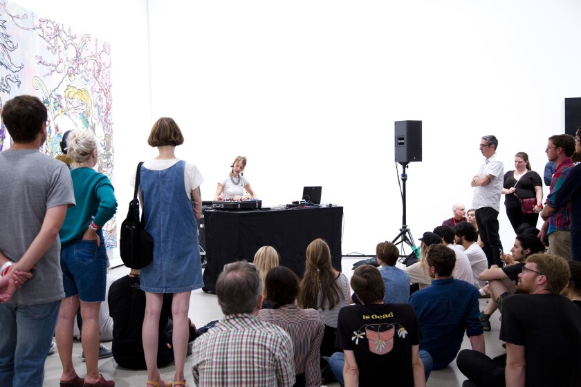 "Kaitlyn Aurelia Smith performs selections from her recent album, ""Ears,"" at the Broad."