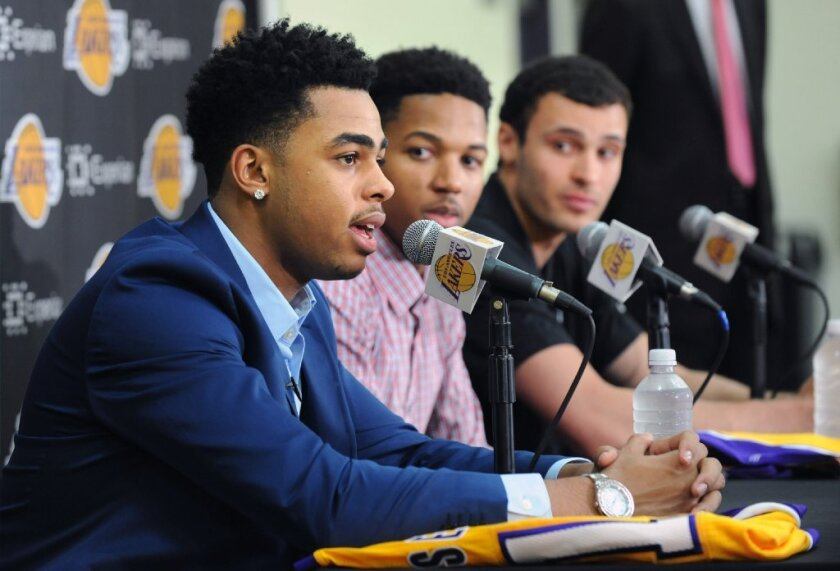D'Angelo Russell, Anthony Brown, Larry Nance Jr.