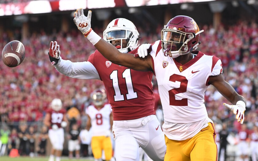 USC receiver Devon Williams hadn't made a catch this season before Saturday's game at Oregon State.