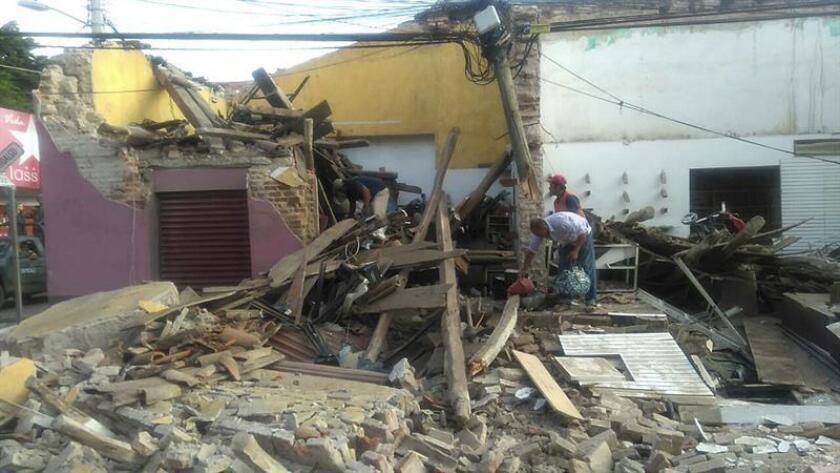 Fotografía de archivo de los daños tras el fuerte sismo de magnitud 8.2 en la escala de Richter que sacudió estado de Oaxaca (México). EFE/Archivo