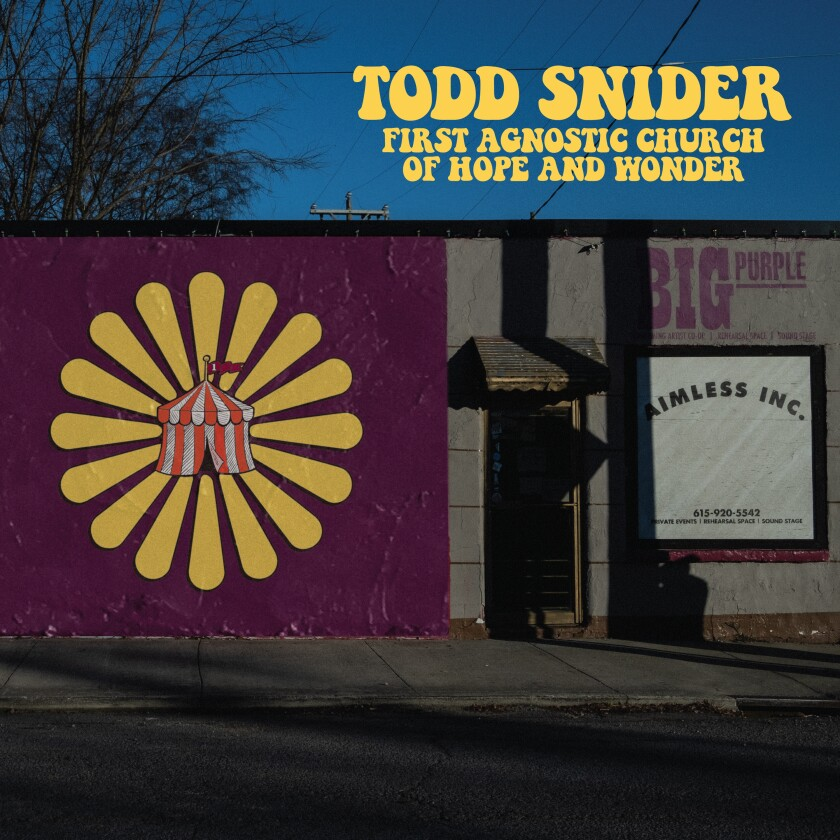 "This image released by Aimless Records/Thirty Tigers shows ""First Agnostic Church of Hope and Wonder"" by Todd Snider. (Aimless Records/Thirty Tigers via AP)"