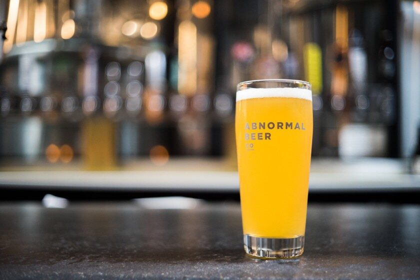 Abnormal Beer Co.'s Boss Pour.