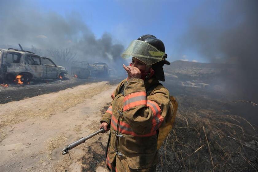 En lo que va de 2018 en Honduras se han registrado alrededor de 700 incendios forestales que han destruido más de 24.000 hectáreas de bosques, según fuentes oficiales. EFE/Archivo