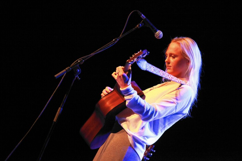 Laura Marling performs at the Olympia on Sept. 29, 2013, in Dublin, Ireland.