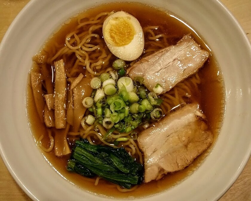 Shoyu Ramen at Yakyudori