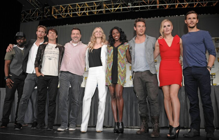 "The ""True Blood"" cast at Comic-Con elicited screams and pledges of love."