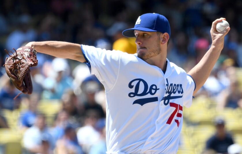 Grant Dayton emerged from obscurity as a 28-year-old rookie to become the Dodgers' most reliable left-handed reliever.