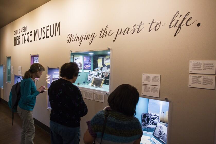 El Museo del Patrimonio de Chula Vista se encuentra en el interior de la biblioteca en Civic Center.