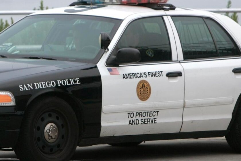 San Diego Police Department iconic art.