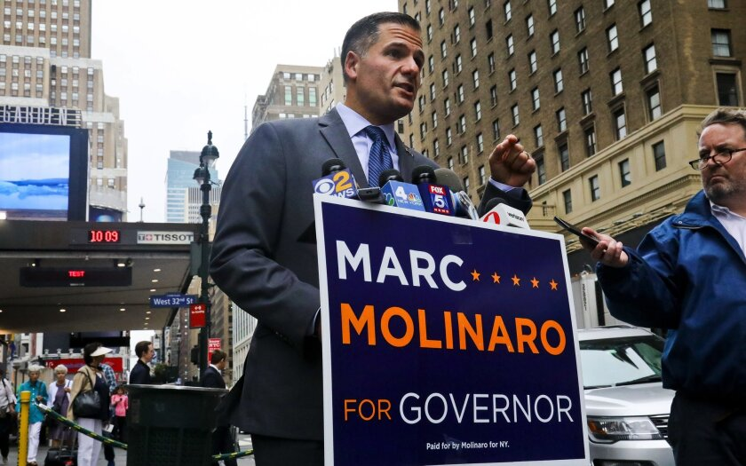"""Republican gubernatorial candidate Marc Molinaro is """"just dangerous,"""" says a prominent anti-gun violence group."""
