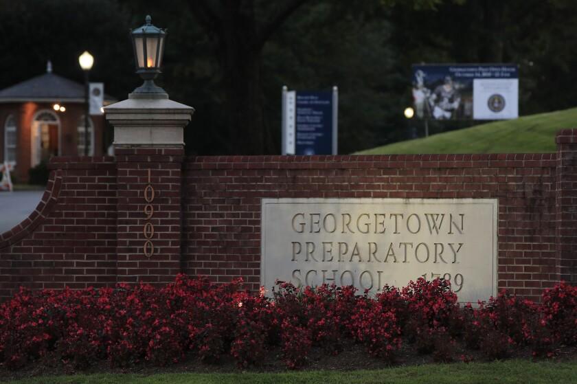 Brett Kavanaugh attended Georgetown Prep in the 1980s.