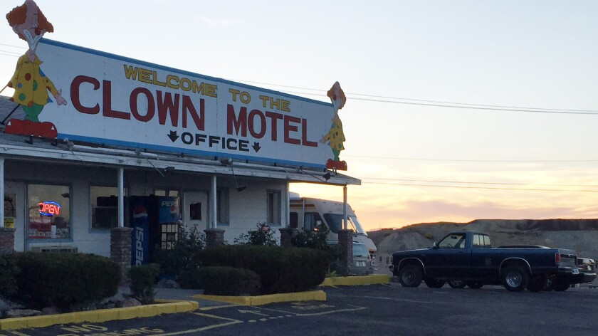 The Clown Motel in Tonopah, Nev., is owned by Bob Perchetti, who is not happy about the Great American Clown Scare of 2016.