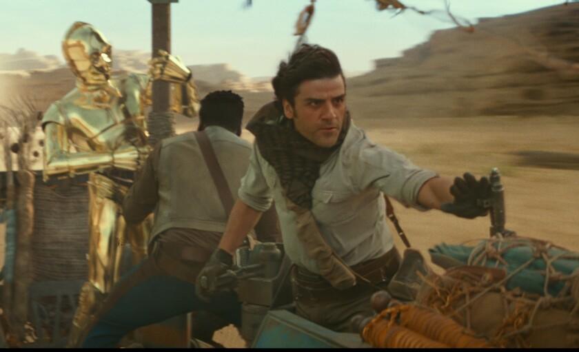 """El actor Oscar Isaac en una escena de """"Star Wars: The Rise of Skywalker""""."""