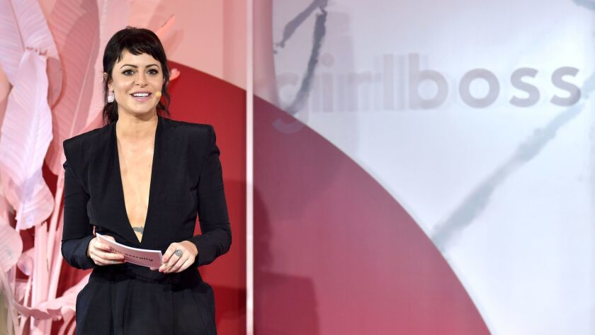 Girlboss Founder and CEO Sophia Amoruso speaks onstage at the inaugural Girlboss Rally on March 4, 2017 in Los Angeles, California.