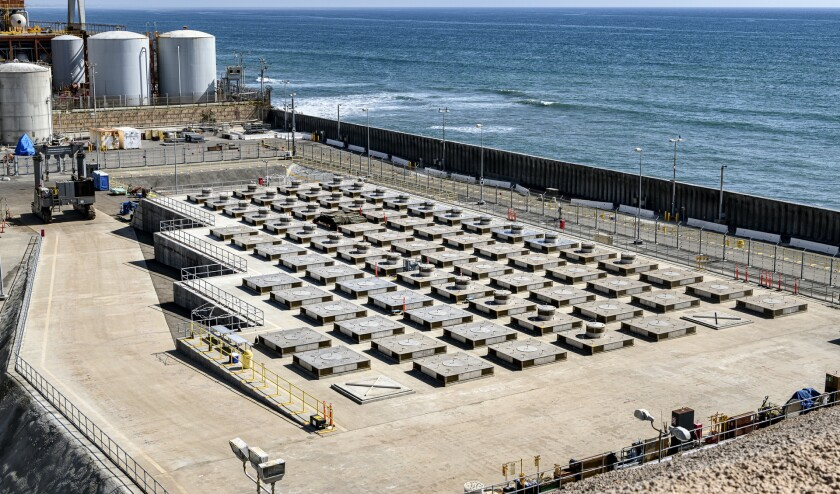 The dry cask story facility at the San Onofre Nuclear Generating Station, operated by Southern California Edison.