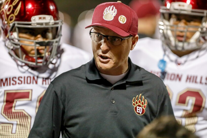 """""""Our goal was to get a seed, a first-round bye to let our players rest and heal, and get a home game,"""" said Mission Hills coach Chris Hauser"""