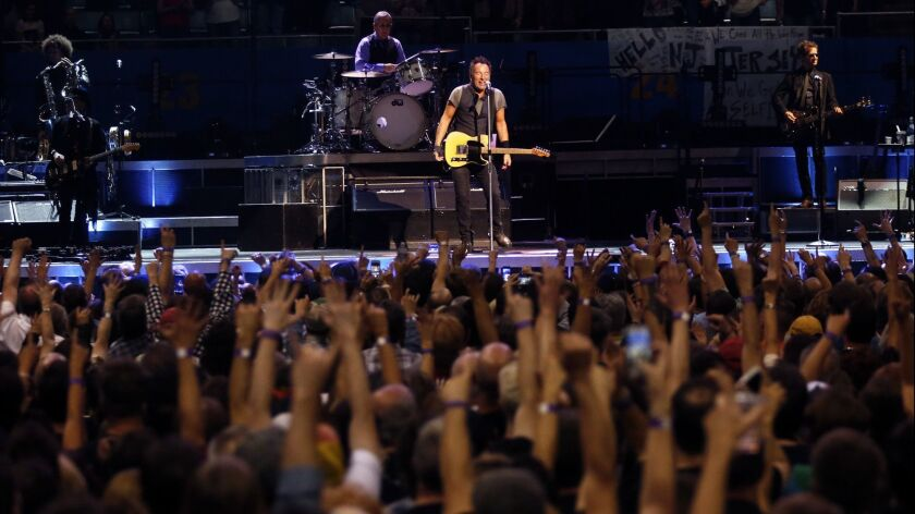 Bruce Springsteen & the E Street Band perform at the Los Angeles Sports Arena in Los Angeles on March 15, 2016.