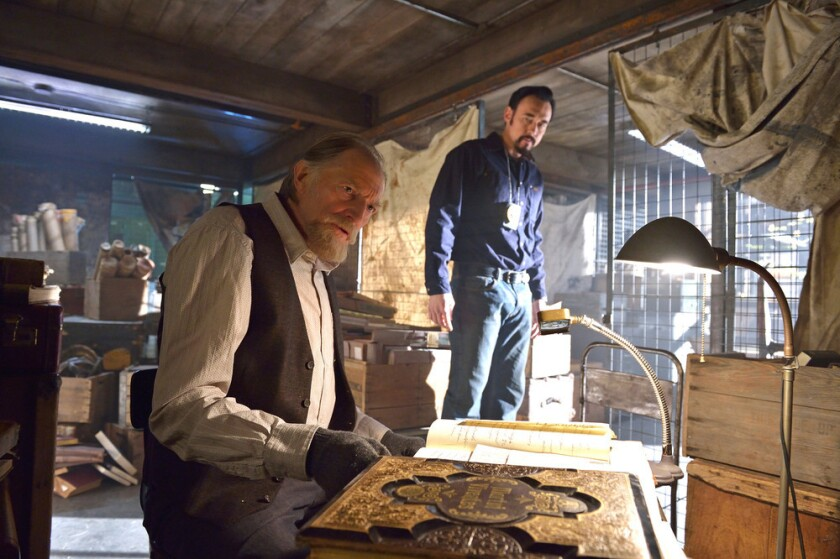 """David Bradley, left, as Abraham Setrakian and Kevin Durand as Vasiliy Fet in the """"By Any Means"""" episode of """"The Strain."""""""
