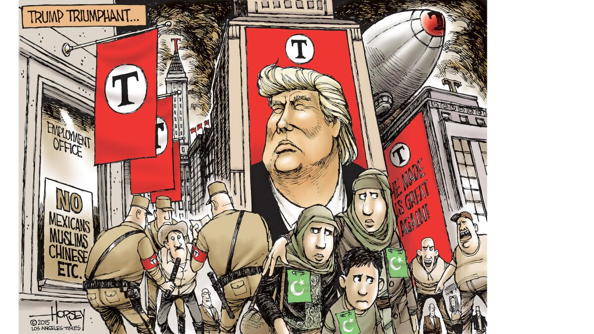 Donald Trump S Fascist Inclinations Do Not Bother His Fans Los Angeles Times