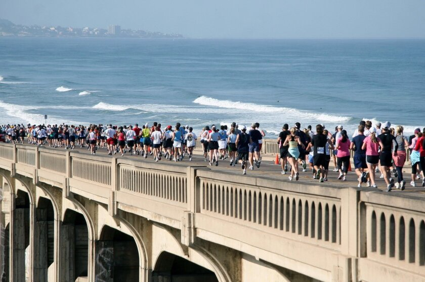 A scene from the scenic 2015 La Jolla Half Marathon.