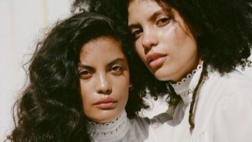The Franco-Cuban music duo Ibeyi features 23-year-old twin sisters Lisa-Kaindé and Naomi Diaz.