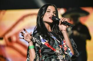 Natalia Jiménez en los ensayos de los Premios Billboard de la Música Latina