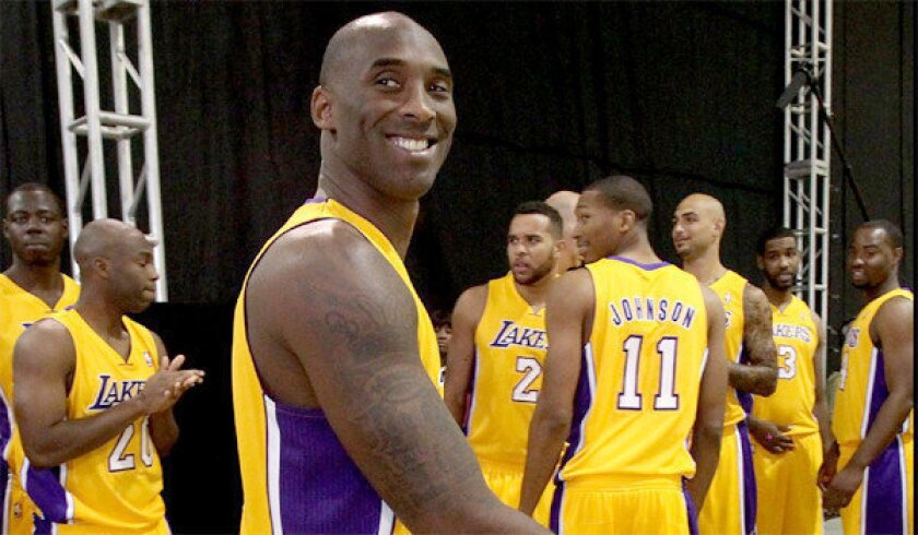 Kobe Bryant has not started to run on the court yet, but the Lakers star has begun shooting without jumping as the next step in his recovery from a torn Achilles' tendon.