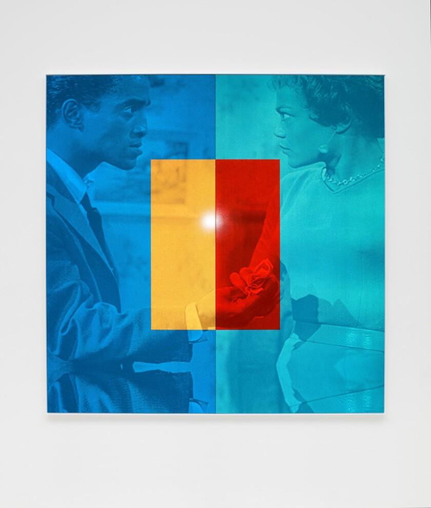 """""""'C'est si bon' (Le Harmonie del Colore)"""" by Hank Willis Thomas, 2019, photographed with a flash."""