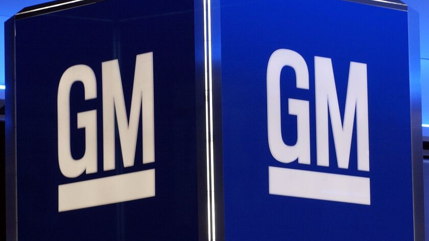 This 2005 file photo shows the corporate logo for General Motors Corp.