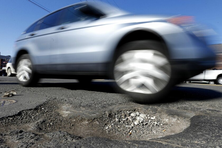 There is an estimated $130 billion backlog of local and state road repairs.