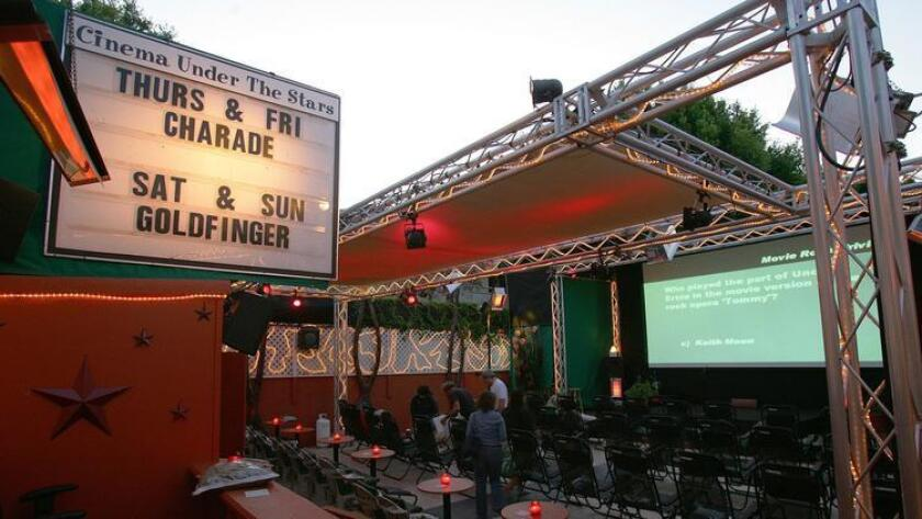 """The heated patio with comfortable lounge chairs is unbeatable, and the film lineup is just as good. Upcoming films include """"Steve Jobs,"""" """"Spotlight"""" and """"The Big Short."""" (Sean M. Haffey)"""